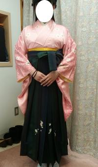 大学生謝恩会出席の袴を着付けました