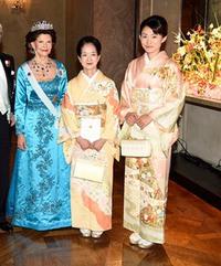 ノーベル賞の晩餐会での着物