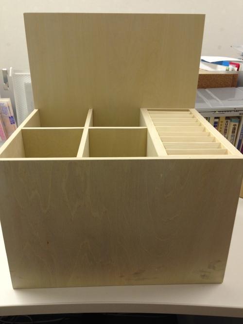 外国語おみくじ用おみくじ箱の試作品完成です