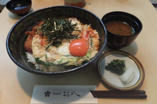 豊中・千里中央 「とんかつ梅八」 こだわり卵のかつ丼!