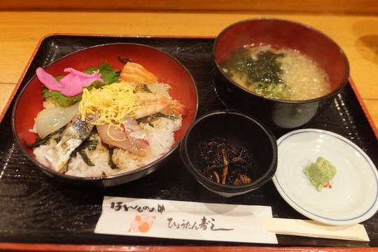 吹田・江坂 「ひょうたん寿し 江坂東急店」 満足のお値打ち海鮮丼定食!