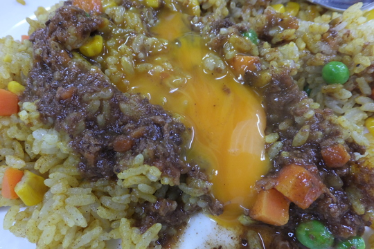 豊中・千里中央 「ジャンボカレー」 インディアンピラフがサクッと食べれます!