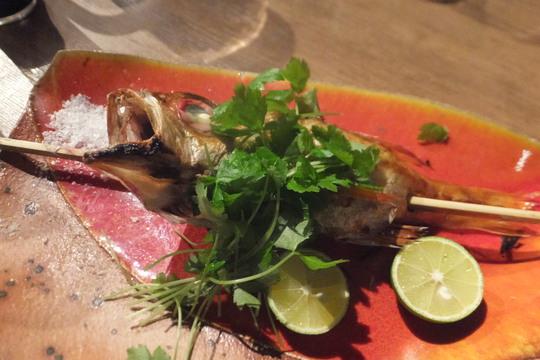 天満 「火遊びまこと」 飲み放題の日本酒とワインで頂く魚の原始焼きが旨い!