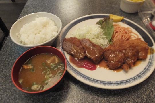 四ツ橋・北堀江 「大富士」 老舗の洋食でヘレカツとミンチカツの日替わりランチ!
