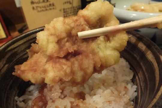 淀川区・東三国 「なかや」 日替わりの鱧とイカの天丼&ぶかっけ(冷)!