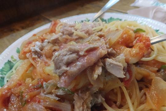なんば 「タブキ」 優しい味わいのトマトソーススパゲティ!