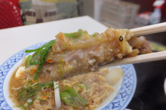 豊中・蛍池 「中華料理 ます」 カツの浸り具合が味わい深いカツ玉定食!