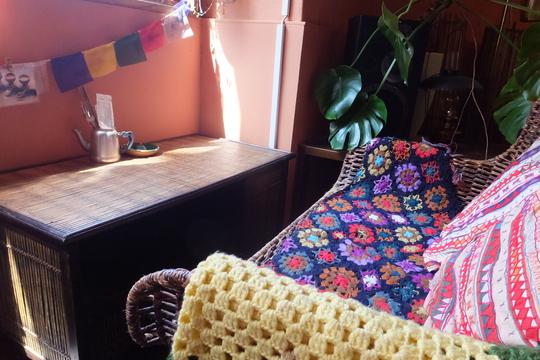 桜川・汐見橋 「ミカンバコ」 エスニック調のカフェで頂くアフリカンチキンカレー!