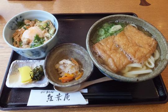 吹田・江坂 「紅葉庵」 絶品きつねと出汁がしゅんだ玉子丼!