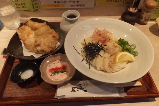 茨木 「ひだりうま」 大阪好っきゃ麺5 第8弾 朝挽き鶏天タルタルぶっかけ!