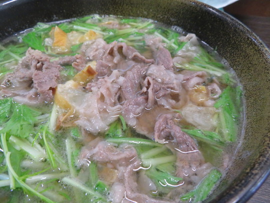 中央・長堀橋 「麺屋 まるきゅう(○9)」 朝うどんで頂く肉かすうどん!