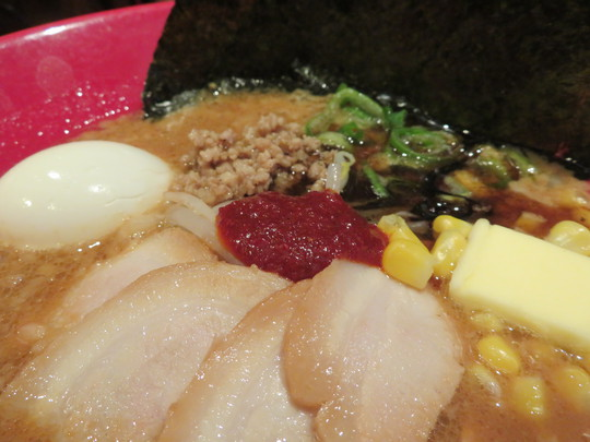 南堀江 「博多一風堂」 期間限定味噌赤丸のコクと旨味が広がります!