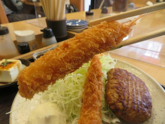 神戸・住吉 「なかよし」 ダブルで楽しめるハンバーグ&エビフライ定食!