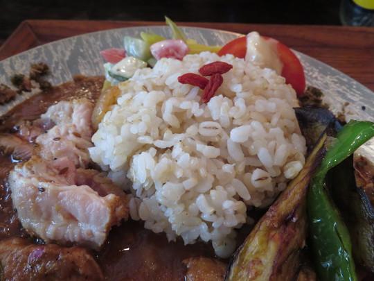 四ツ橋・南船場 「soratobu curry(そらとぶカレー)」 しょうがチキンとパインポークカレーのあいがけ!