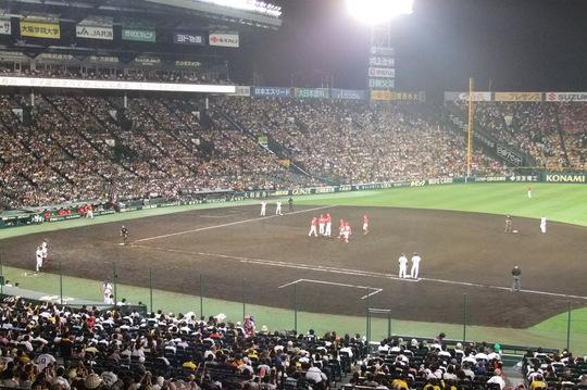 西宮・甲子園球場 「阪神対広島」 調子に乗って連勝を狙います