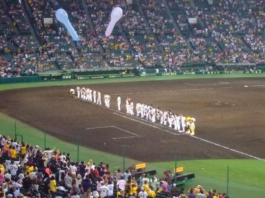西宮・甲子園球場 「阪神対中日」 金本の現役最後の応援です!