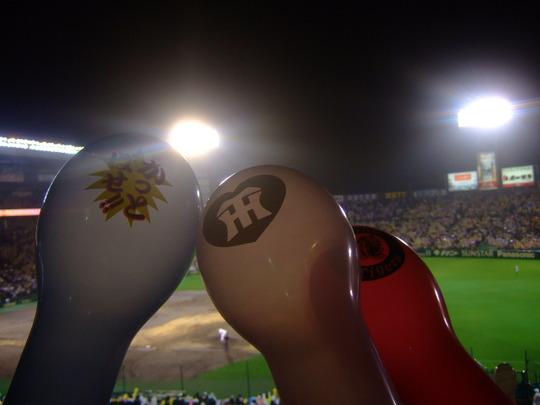 西宮・甲子園球場 「阪神 対 横浜」ほろ酔い気分の観戦ですが