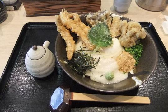 京都・伏見 「大河」 うどんラリー4 とりまいとろろ山葵醤油