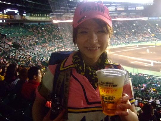 西宮・甲子園球場 「阪神 対 ヤクルト」 今年最終観戦です!
