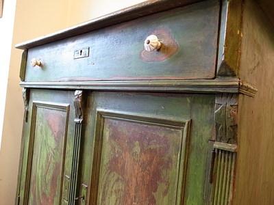 アンティークパイン家具 ペイントサイドボード