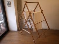 アンティーク 折り畳みの物干し