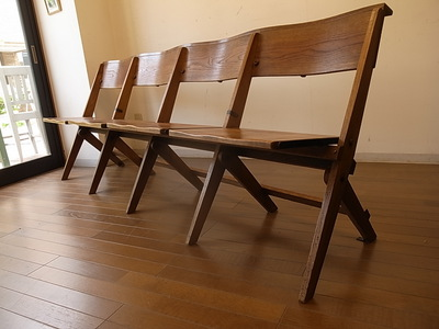 チャーチチェア 4人掛けベンチ