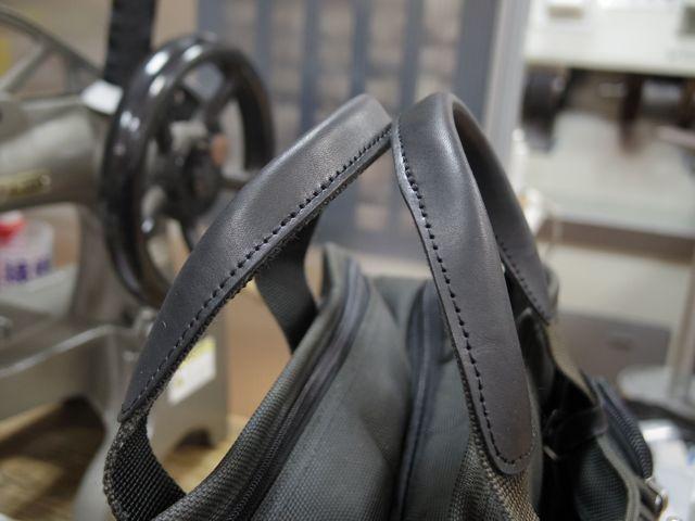 TUMIのビジネスバッグをいろいろ修理