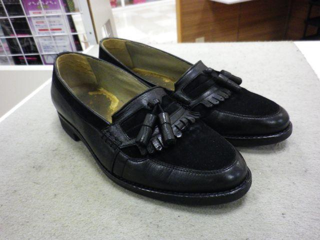 紳士靴の半敷き交換