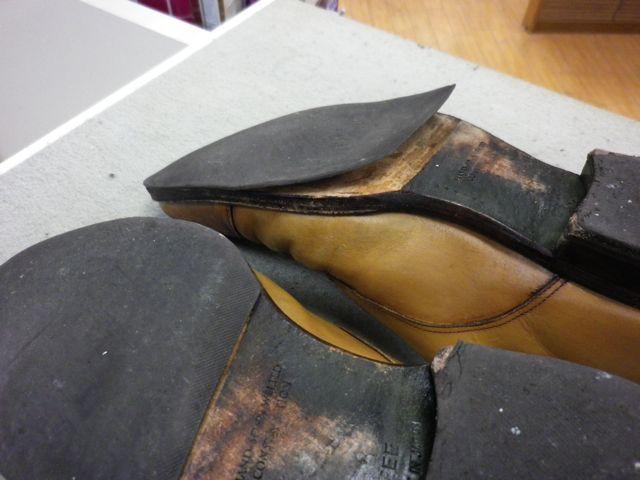 紳士靴×ダブルモンク×かかと交換×ハーフソール