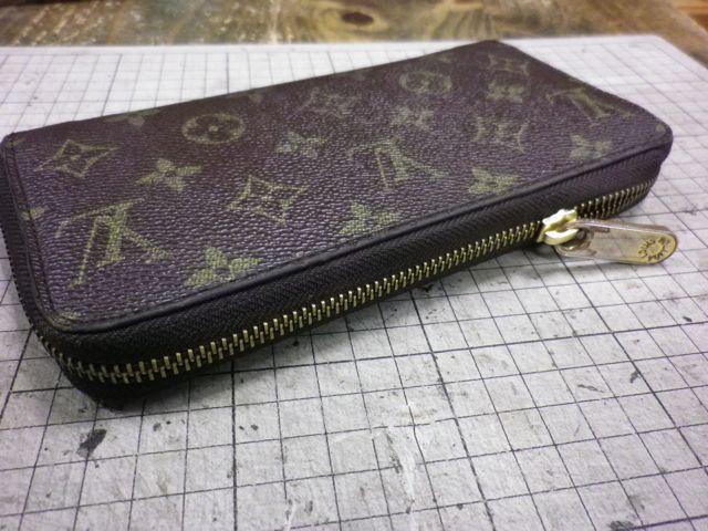 ルイ・ヴィトンの財布のファスナーがしまらない。。。