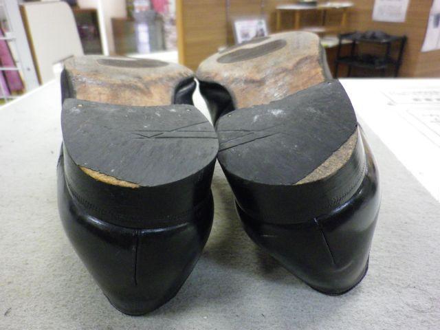 紳士靴×かかと削れ過ぎ×ハーフソール