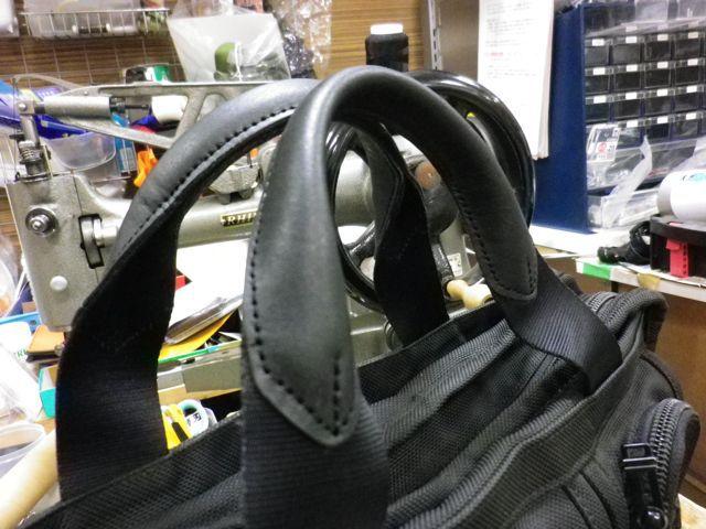 TUMIのビジネスバッグの持ち手が、、、