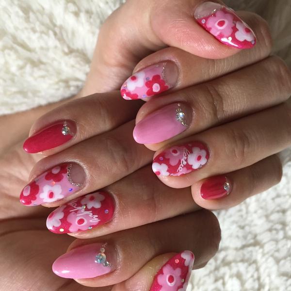 春はやっぱり花柄アートがかわいいっ!!