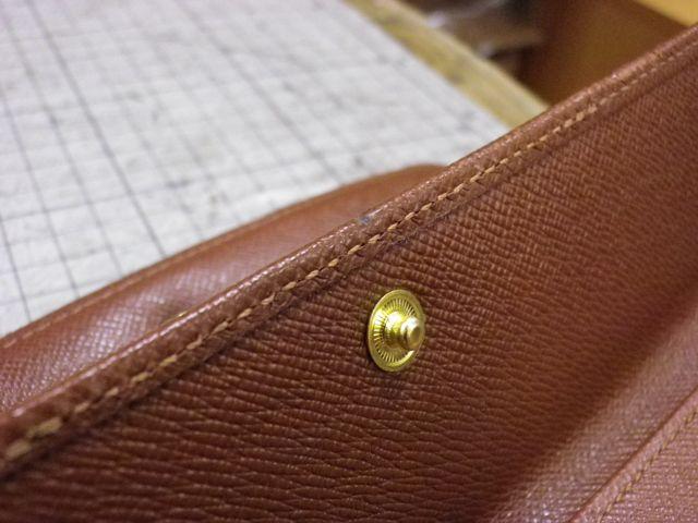 ルイ・ヴィトン×3つ折り財布×コインフラップ×ホック交換