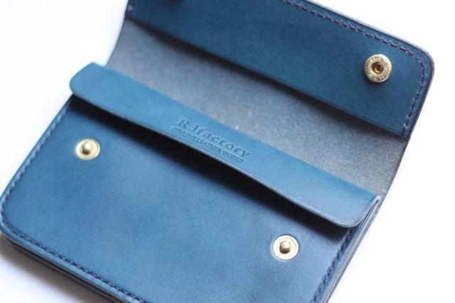 custom order☆short TRUCKER WALLET BLUE