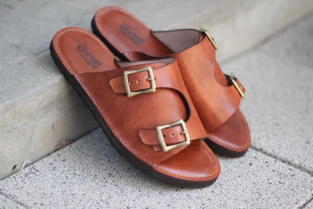 leather brass rings sandals BIRKENSTOCK sole 追加