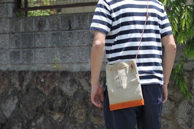 帆布2way square shoulder bag 追加しました