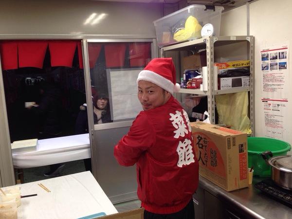 サンタさんがラーメン屋さん!?