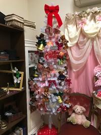 クリスマスツリー ホワイト スノー 飾り テディベアー イルミネーション 電飾 観光 大阪 USJ