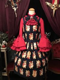 ネコ柄ジャンパースカートが生まれ変わりましたよ~ サテライトドア ハンドメイド作品
