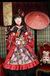 和ロリ 和ロリータ ゴスロリ コスプレ モデル 撮影 変身 着物 体験 豊中 大阪 スタジオ