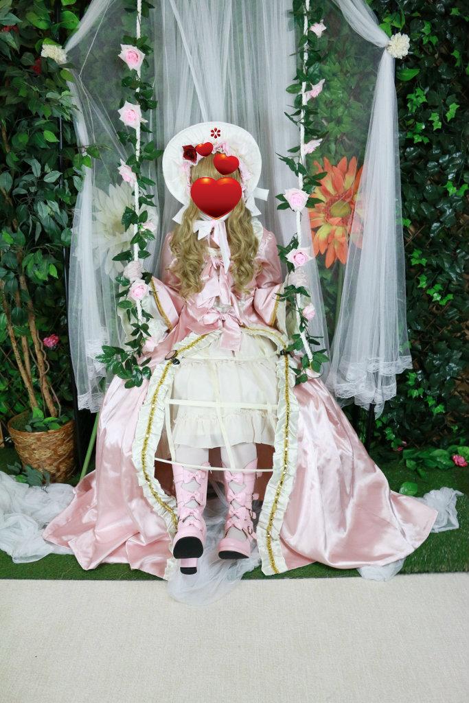 マリーアントワネット コスプレ ロリータ クリノリン ボンネット 体験 ドレス 変身 伊丹空港