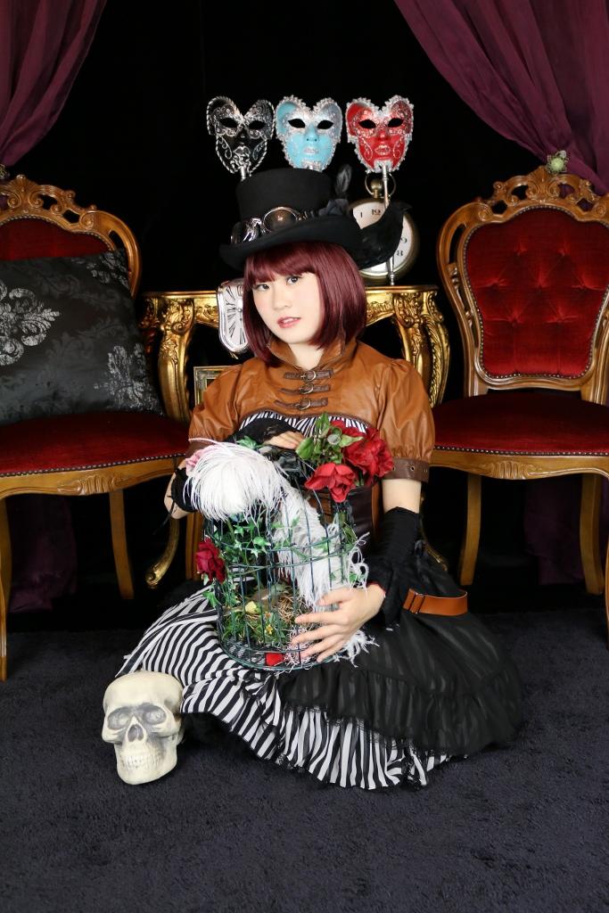 スチームパンク ゴスロリ モデル ロリータ コスプレ 変身 体験 天使 羽 ゴシック PV