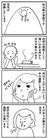 鼻水は余分な水分