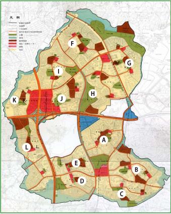 千里丘陵住宅地区開発計画図