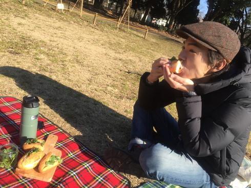 バインミーを持ってピクニック!in砧公園