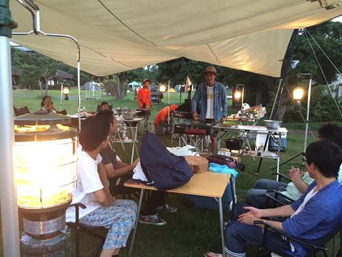 若洲公園で「真夏の釣り&アウトドア料理教室」