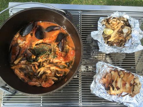 若洲公園でアウトドア料理教室!ホイル焼き&ブイヤベース
