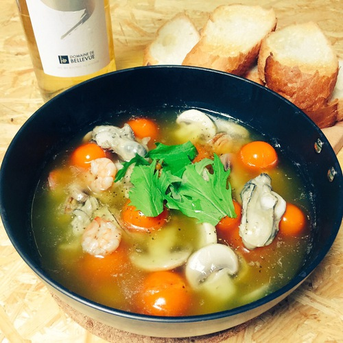 COCOpanで作る!「牡蠣とマッシュルームのアヒージョ」