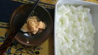 作りました。モチモチでおいしい キャッサバ粉のデザート